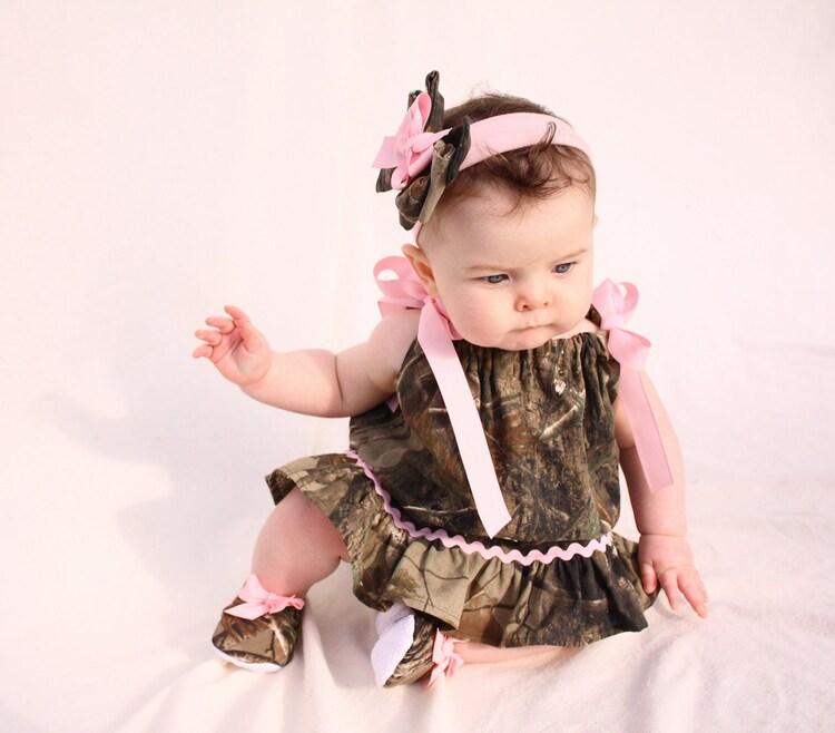 Baby Girl Camo Realtree Gift Set Pillowcase Dress By