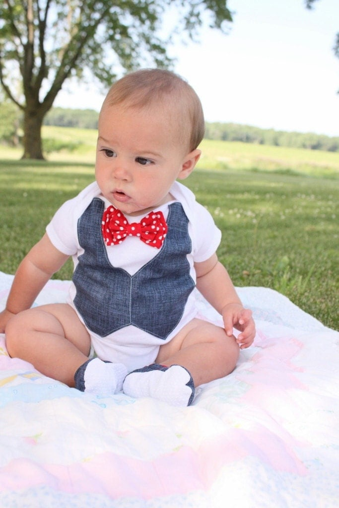 baby boy 4th of july patriotic shirt bow tie shirt baby boy