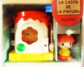 Painting House Box. Tomy 80s Toy