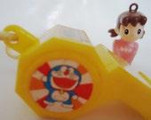 Doraemon Original Whistle & Shizukachans Pendant.80s