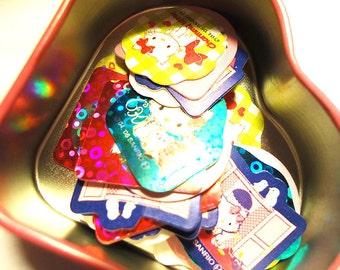 Rare Hello Kitty Stickers in a Mini Heart Tin box