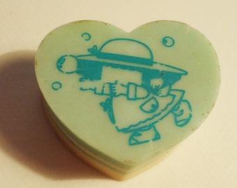 Tiny candy SUper RaRe Bubble Victoria fancy Gakken eraser.80s