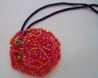 Beaded Handmade Hat Charm. 80s.Japanese
