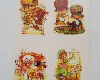 Bonnie Bonnets Paper Scraps Sheet.80s