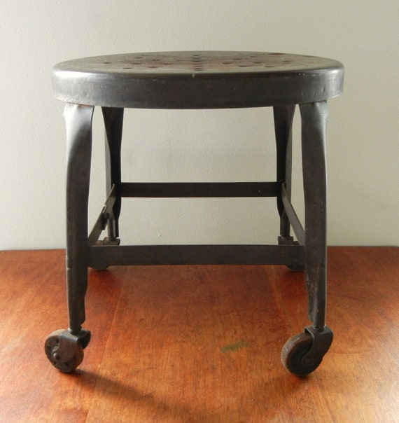 Vintage Industrial Stool With Wheels By Wehaveitvintage On