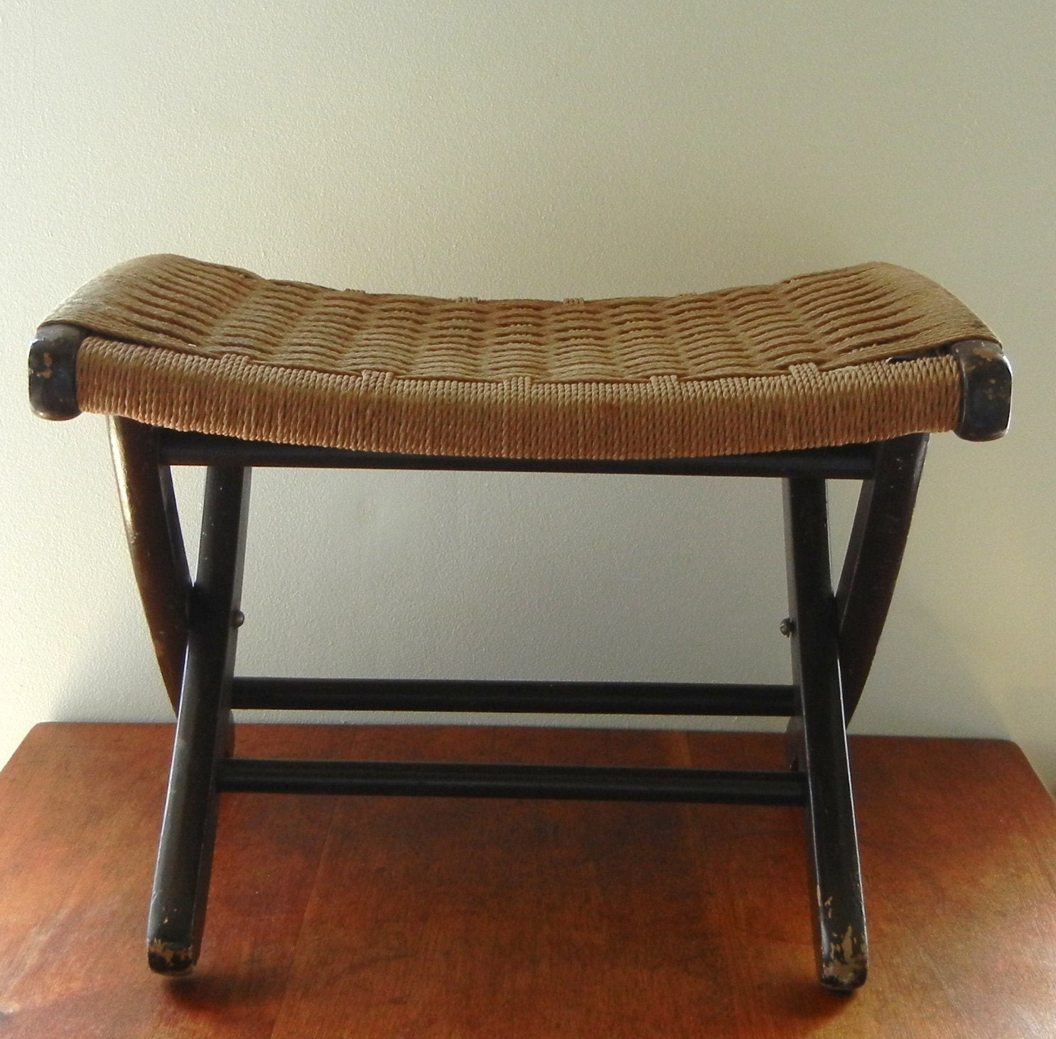 Antique Woven Foot Stool