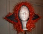 Beast Hat Orange Shaggy Bat