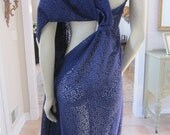 SALE...designer fabric, lace fabric, purple lace fabric 1 yard