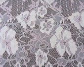 SALE...lace fabric, designer fabric, peach, pink and vanilla eyelash edge lace fabric panel 66 inches long