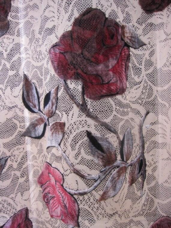 sale designer fabric burnout fabric silk velvet by fabricniche. Black Bedroom Furniture Sets. Home Design Ideas