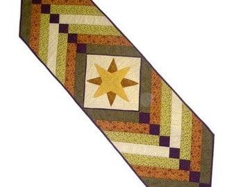 Cabin Star Table Runner Pattern