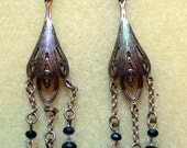 Victorian Steampunk Earring Kit - DIY Beaded Jewerly Kit