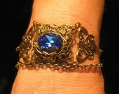 Victorian Steampunk Bracelet with Swarovski Crystal Stone in Neo Victorian Style