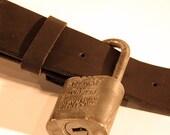 Vintage Padlock Belt Buck...
