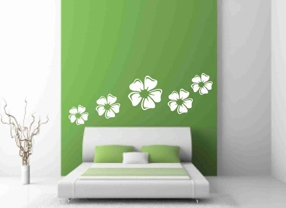 decor for small bedroom flower wall decals white floral decal wedding reception 15089