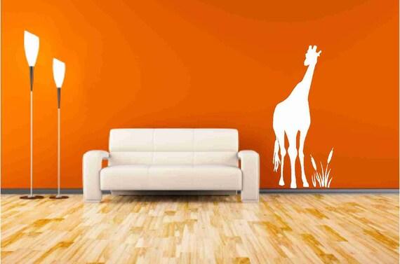 Tall Giraffe Wall Decals Nursery Decor, Giraffe Wall Sticker, Kids Bedroom Decor, Safari Animal Decal, Zoo Animal Decal, Nursery Giraffe