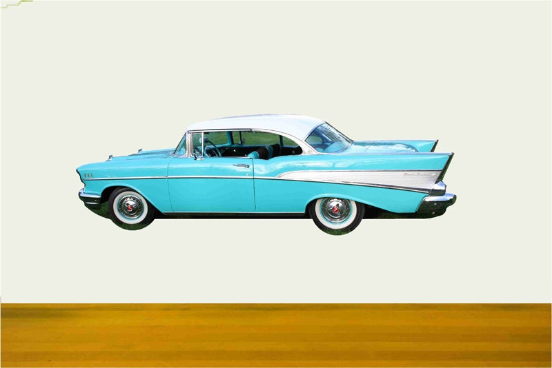 Classic Car Wall Decals 1957 Chevy Coupe Father 39 S Day