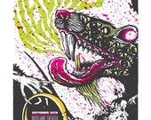 Melvins gig poster - Portland, Oregon 2010