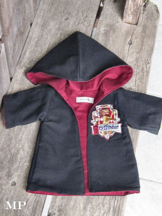 waldorf Harry POTTER Gryffindor cape / robe and patch for 10 12 15 18 inch doll