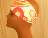 Pink Paisley Headband Stretchy in Lycra