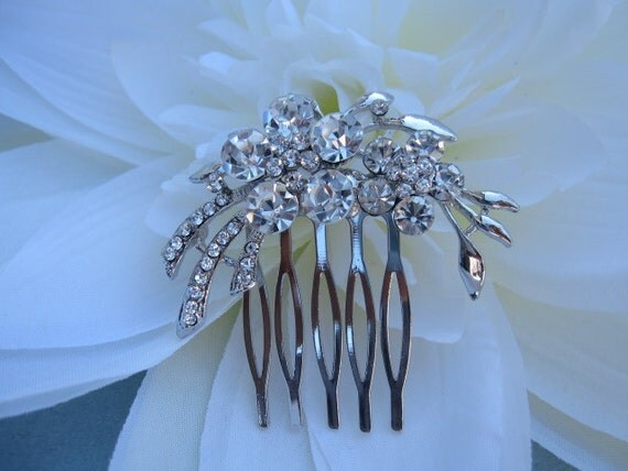 bridal hair comb, wedding hair accessories, brida hair comb crystal rhinestone, wedding hair comb