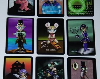 Original Art 36 Card Steampunk Fairy Oracle Tarot Deck