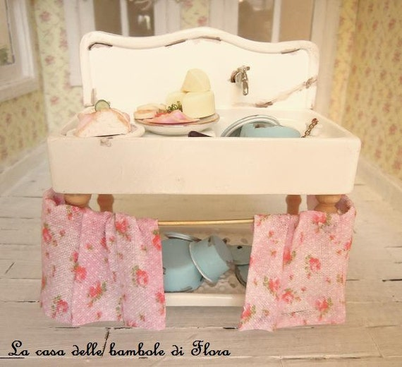 French Country Kitchen Sink: French Shabby Country Kitchen Sink With Accessories 1/12