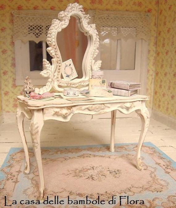 French Marie Antoinette Dressing Table Savonnerie Rug And