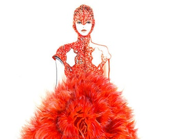 Runway Fashion Illustration - Alexander Mcqueen