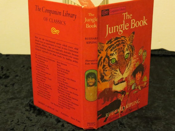 Vintage 1963 The Jungle Book by Rudyard Kipling Hard Cover