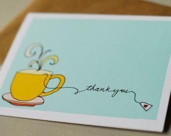 Tea Card- Thank You set of 6