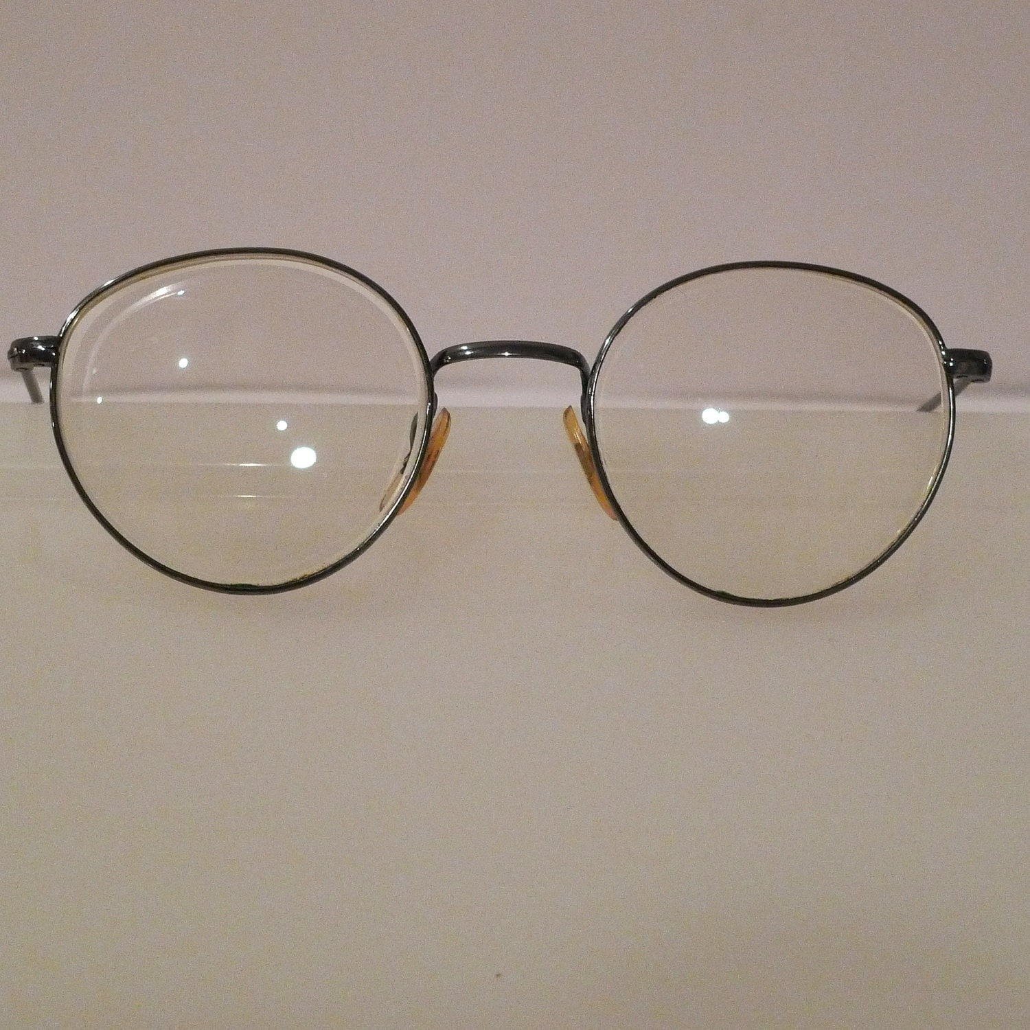 Wire Frame Glasses Vintage : Eye Glasses Frames Silver wire frame spectacles retro vintage