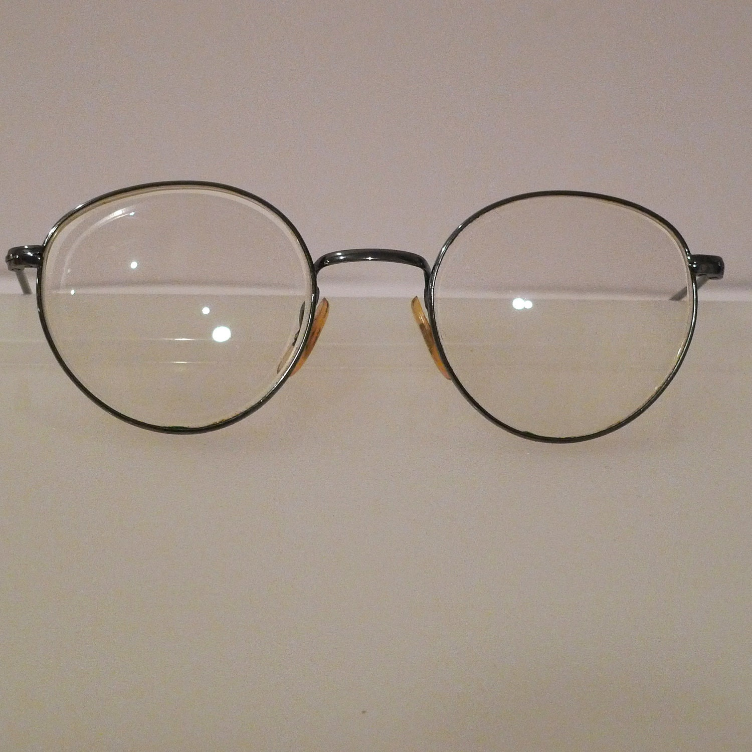 Eye Glasses Frames Silver wire frame spectacles retro vintage