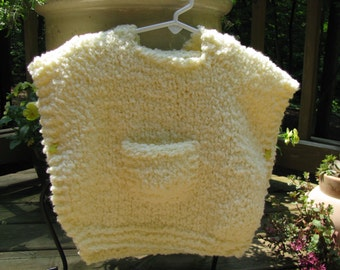 knitted poncho hoodie 12-24 months