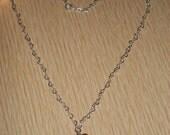 Sterling silver and Swarovski crystal necklace RESERVED