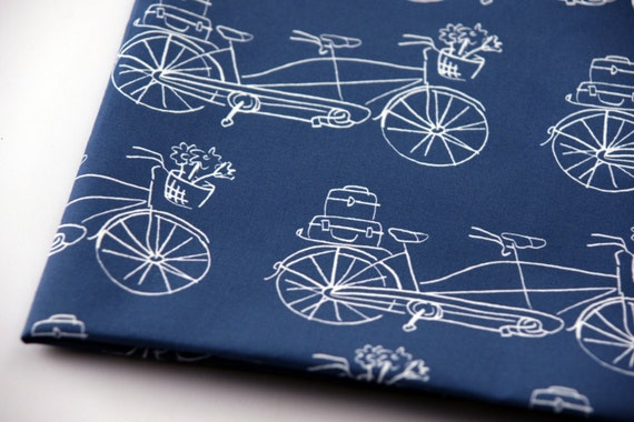 Vintage Traveler Navy  -  Original Fabric - Fat Quarter