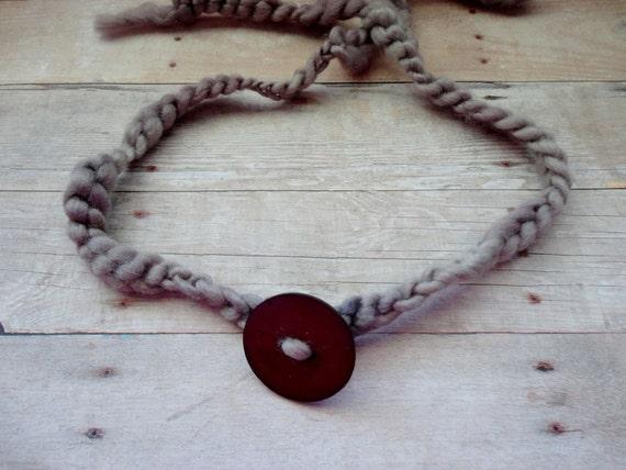 Headband Hippie Style Shabby Chic Baby Photo Prop Vintage Hobo Crochet Knit