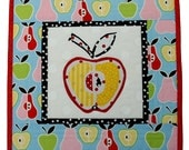 SALE - Mini Quilt - Candy Apple III