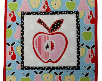 SALE - Mini Quilt - Candy Apple II