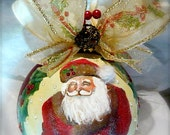 Santa Hand Painted Ornament