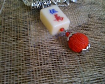Mahjong necklace and pendant