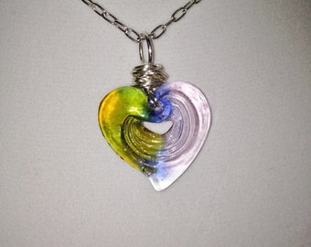 Italian Glass Heart Necklace