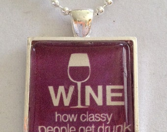 Wine Pendant Necklace