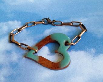 Heart and Copper Bracelet