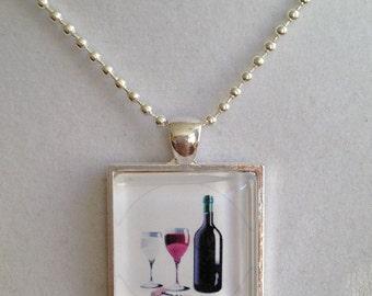 Wine Pendant Necklace