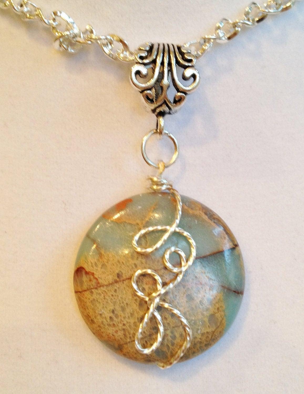 Serpentine Gemstone Necklace  Serpentine Gems...