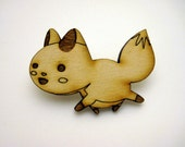 Wood Fox Pin