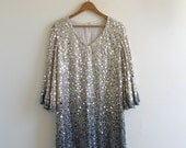 Sequin Gold to Silver Degrade Dress