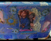 Three Graces with Fairy OOAK Suitcase Free Ship