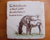 Horse and Foal Tile Coaster